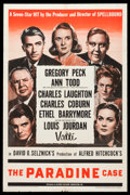 """Movie Posters:Hitchcock, The Paradine Case (Selznick, 1948). One Sheet (27"""" X 41"""").Hitchcock.. ..."""