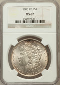Morgan Dollars: , 1883-CC $1 MS62 NGC. NGC Census: (1360/16306). PCGS Population(2700/32823). Mintage: 1,204,000. Numismedia Wsl. Price for ...