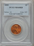 Lincoln Cents: , 2000 1C MS68 Red PCGS. PCGS Population (271/6). NGC Census: (37/3).Numismedia Wsl. Price for problem free NGC/PCGS coin i...