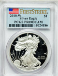 Modern Bullion Coins, 2010-W $1 Silver Eagle, First Strike PR69 Deep Cameo PCGS. PCGSPopulation (4961/15469). NGC Census: (10551/21252)....