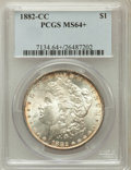 Morgan Dollars, 1882-CC $1 MS64+ PCGS. PCGS Population (10587/6063). NGC Census:(5023/3347). Mintage: 1,133,000. Numismedia Wsl. Price for...