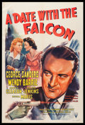 "Movie Posters:Crime, A Date with the Falcon (RKO, 1941). One Sheet (27"" X 41""). Crime....."