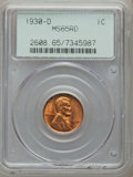 Lincoln Cents: , 1930-D 1C MS65 Red PCGS. PCGS Population (464/118). NGC Census:(196/131). Mintage: 40,100,000. Numismedia Wsl. Price for p...
