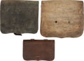 Military & Patriotic:Indian Wars, Lot of Three Leather Cartridge Pouches.... (Total: 3 )