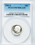 Proof Roosevelt Dimes: , 1983-S 10C PR70 Deep Cameo PCGS. PCGS Population (214). NGC Census:(177). Numismedia Wsl. Price for problem free NGC/PCGS...