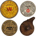 Ammunition, Lot of Four 19th Century Cap Boxes and Brass Drum Capper.... (Total: 4 Items)