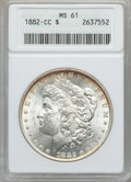 Morgan Dollars: , 1882-CC $1 MS61 ANACS. NGC Census: (273/13624). PCGS Population(407/26706). Mintage: 1,133,000. Numismedia Wsl. Price for ...
