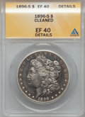 Morgan Dollars, 1896-S $1 -- Cleaned -- ANACS. XF40 Details. NGC Census: (91/1066).PCGS Population (195/1878). Mintage: 5,000,000. Numisme...
