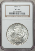 Morgan Dollars: , 1885-O $1 MS65 NGC. NGC Census: (26094/4867). PCGS Population(17546/2445). Mintage: 9,185,000. Numismedia Wsl. Price for p...