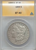 Morgan Dollars: , 1899 $1 XF40 ANACS. NGC Census: (27/8260). PCGS Population(57/10929). Mintage: 330,846. Numismedia Wsl. Price for problem ...