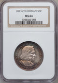 Commemorative Silver: , 1893 50C Columbian MS64 NGC. NGC Census: (1796/795). PCGSPopulation (1495/695). Mintage: 1,550,405. Numismedia Wsl. Price...
