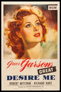"Movie Posters:Drama, Desire Me (MGM, 1947). One Sheet (27"" X 41""). Drama.. ..."
