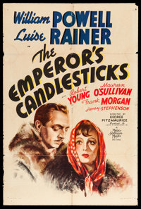 """The Emperor's Candlesticks (MGM, 1937). One Sheet (27"""" X 41"""") Style D. Romance"""