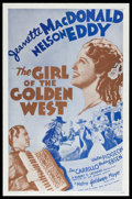 "Movie Posters:Musical, The Girl of the Golden West (MGM, R-1962). One Sheet (27"" X 41"").Musical.. ..."