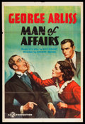 """Movie Posters:Crime, Man of Affairs (Gaumont, 1937). One Sheet (27"""" X 41""""). Crime.. ..."""