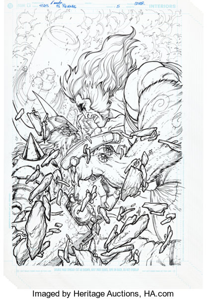 original comic artcomplete story carlos danda and cully hamner thundercats hammerhand - Thunder Cats Coloring Book Pages