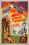 "Movie Posters:Science Fiction, Flash Gordon's Trip to Mars (Filmcraft, R-1950). One Sheet (27"" X41""), AKA Mars Attacks the World (Reissue Title). Scie..."
