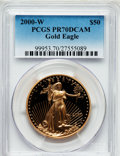 Modern Bullion Coins, 2000-W G$50 One-Ounce Gold Eagle PR70 Deep Cameo PCGS. PCGS Population (117). NGC Census: (550). Numismedia Wsl. Price for...