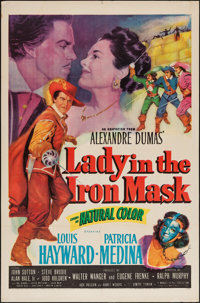"Lady in the Iron Mask (20th Century Fox, 1952). One Sheet (27"" X 41""). Adventure"