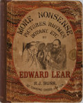 Books:Literature Pre-1900, Edward Lear. More Nonsense, Pictures, Rhymes, Botany, etc.Robert John Bush, 1872. Quarter cloth over pictorial boar...