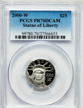 Modern Bullion Coins, 2000-W $25 Quarter-Ounce Platinum Statue of Liberty PR70 Deep CameoPCGS. PCGS Population (302). NGC Census: (631). Numism...