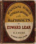 Books:Literature Pre-1900, Edward Lear. Nonsense Songs, Stories, Botany, and Alphabets.Robert John Bush, 1871. Publisher's quarter cloth a...