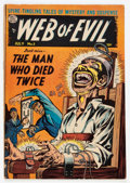 Golden Age (1938-1955):Horror, Web of Evil #5 (Quality, 1953) Condition: VG+....