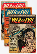 Golden Age (1938-1955):Horror, Web of Evil Group (Quality, 1954) Condition: Average VG+....(Total: 6 Comic Books)