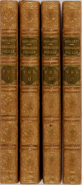 Books:Literature Pre-1900, Tobias Smollett. The Adventures of Peregrine Pickle. Vol. I-IV. M'Dermut & Arden, 1813. Custom full polished cal... (Total: 4 Items)