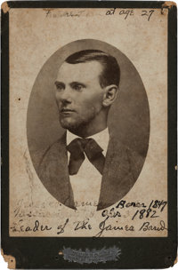 Jesse James: A Rare Cabinet-Size Photo Published by Mitchell, Kansas City, from the Collection of Harry Hoffman