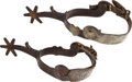 Western Expansion:Cowboy, Jim Younger or John Younger: A Pair of Spurs Left Behind in theRush to Escape Following the Notorious Gun Battle with Pinkert...(Total: 4 Items)