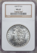 """Morgan Dollars, (3)1885-O $1 MS63 NGC. The current Coin Dealer Newsletter(Greysheet) wholesale """"bid"""" price... (Total: 3 coins)"""