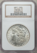 "Morgan Dollars, (2)1887 $1 MS64 NGC. The current Coin Dealer Newsletter (Greysheet)wholesale ""bid"" price i... (Total: 2 coins)"