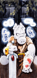 Original Comic Art:Covers, Dave Sim and Gerhard Wizard #17 Cerebus Illustration Original Art (1993)....