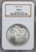 "Morgan Dollars: , (2)1879-S $1 MS64 NGC. The current Coin Dealer Newsletter(Greysheet) wholesale ""bid"" price... (Total: 2 coins)"
