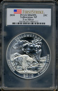 2010 25C Yellowstone Five Ounce Silver First Strike MS69 Prooflike PCGS. PCGS Population (1521/0). NGC Census: (0/0). Th...