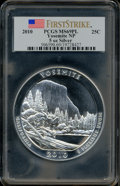 Modern Bullion Coins, 2010 25C Yosemite Five-Ounce Silver, First Strike MS69 ProoflikePCGS. PCGS Population (1808/0). NGC Census: (1352/0). Th...