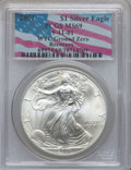 Modern Bullion Coins: , 2001 $1 Silver Eagle MS69 PCGS. Ex: 9-11-01 WTC Ground ZeroRecovery. PCGS Population (21113/24). NGC Census: (85527/489). ...