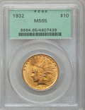 Indian Eagles, 1932 $10 MS65 PCGS....