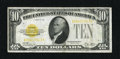 Small Size:Gold Certificates, Fr. 2400 $10 1928 Gold Certificate. Very Fine.. A brightly colored overprint highlights this ever popular issue....