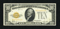 Small Size:Gold Certificates, Fr. 2400 $10 1928 Gold Certificate. Very Fine+.. Nice paper and colors remain on this increasing popular issue....