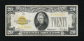 Small Size:Gold Certificates, Fr. 2402 $20 1928 Gold Certificate. Fine.. The colors remain bright on this gold seal that has a trivial margin nick and a p...