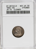 Bust Dimes: , 1833 10C --Cleaned--ANACS. XF Details Net,VF30 JR-10. NGC Census:(9/218). PCGS Population (3/212). Mintage: 485,000. Numism...