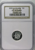 Proof Roosevelt Dimes: , 2000-S 10C Silver PR70 Cameo NGC. NGC Census: (41/0). (#85291)...