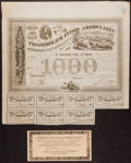 Confederate Notes:Group Lots, Ball 201 Cr. 125 $1000 Bond 1863 Fine-Very Fine.. ...