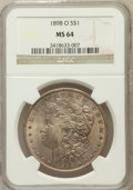 Morgan Dollars: , 1898-O $1 MS64 NGC. NGC Census: (30764/14217). PCGS Population(27279/13154). Mintage: 4,440,000. Numismedia Wsl. Price for...