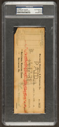 Baseball Collectibles:Others, 1931 Charles Knapp Signed Check - Baltimore Orioles FormerPresident. ...