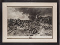 "Militaria:Ephemera, ""Battle Scene"" print by François Flameng, 1890-1897...."