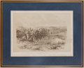 "Militaria:Ephemera, ""The Relief of Khartoum: Testing the Steadiness of Camels""Print...."