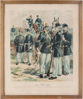 "Militaria:Ephemera, ""Officers & Enlisted Men-Cavalry-Artillery-Infantry-(Full Dress)"" Print. ..."